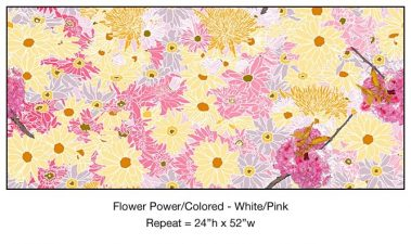 Casart_Multicolored_ White-Pink Flower Power - Botanicals C_4x