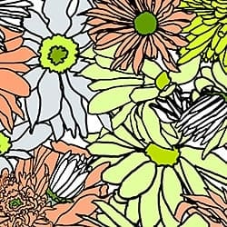 Casart_Multicolored_ Lime-Orange_Flower Power - Botanicals C_5