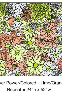 Casart_Multicolored_ Lime-Orange_Flower Power- Bontanicals C_5x