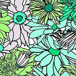 Casart_Turquoise-Green Flower Power - Bontanicals C_6
