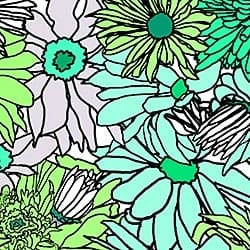 Casart_Turquoise-Green Flower Power - Botanicals C_6