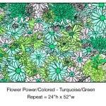 Casart_Turquoise-Green Flower Power- Bontanicals C_6x