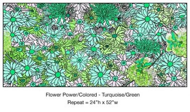 Casart_Turquoise-Green Flower Power- Bontanicals C_6x