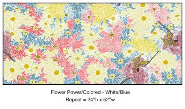 Casart_Colored White-Blue Flower Power - Botanicals C_7x