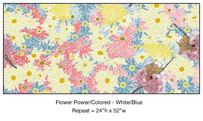 Casart_Colored White-Blue Flower Power- Bontanicals C_7x