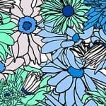 Casart_Cerulean Teal Flower Power C_8
