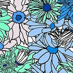 Casart_Cerulean Teal Flower Power C_8