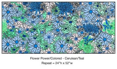 Casart_Cerulean Teal Flower Power- Bontanicals C_8x