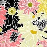 Casart_Multi-colored White-Black Flower Power C_9