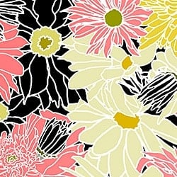 Casart_Multi-colored White-Black Flower Power C_9