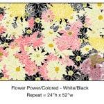 Casart_Multi-colored White-Black Flower Power- Bontanicals C_9x