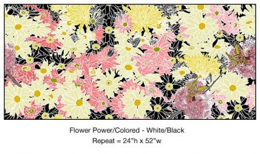 Casart_Multi-colored White-Black Flower Power- Botanicals C_9x