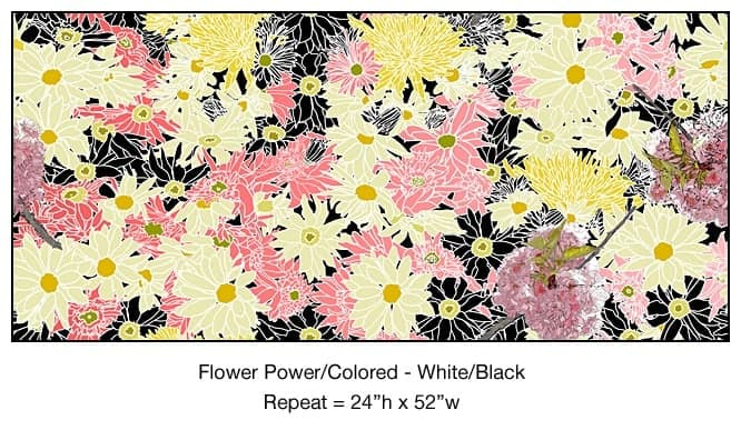 Casart_Multi-colored White-Black Flower Power- Bontanicals C_9x