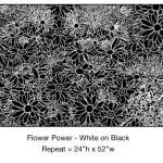 Casart_White on Black Flower Power_1x