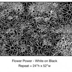 Casart_White on Black Flower Power Botanicals_1x