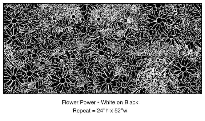 Casart_White on Black Flower Power_1x