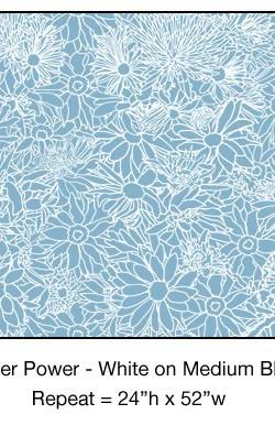 Casart_White on Medium Blue Flower Power_4x
