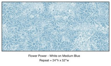 Casart_White on Medium Blue Flower Power_4x_Botanicals