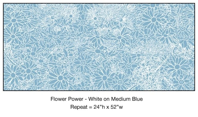 Casart_White on Medium Blue Flower Power_4x