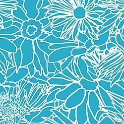 Casart_White on Teal Flower Power_5