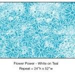 Casart_White on Teal Flower Power_5x