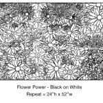 Casart_Black - White Flower Power_6x