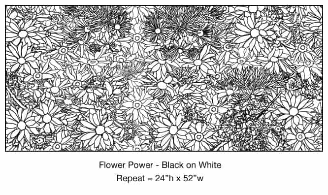 Casart_Black - White Flower Power_6x