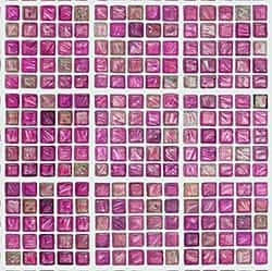 Casart_Pink Faux Glass Clear Grout Tile_6-b_Architectural