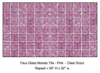 Casart_Pink Faux Glass Clear Grout Tile_6-bx_Architectural
