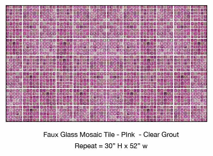 Casart_Pink Faux Glass Clear Grout Tile_6-bx_Architectural