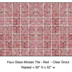 Casart_Red Faux Glass Clear Grout Tile_7-bx_Architectural