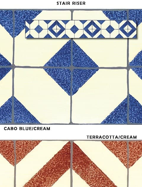 Casart_Faux Tile Stair Riser - Architectural_Sample