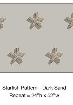 Casart_Starfish Pattern Dark Sand Detail_2x