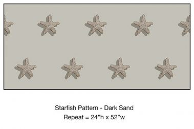 Casart_Starfish Pattern Dark Sand Detail_2x