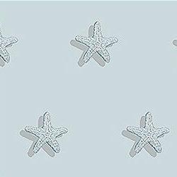 Casart_Starfish Pattern Monochromatic Blue_4