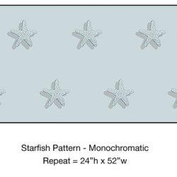Casart_Starfish Pattern Monochromatic Blue_4x