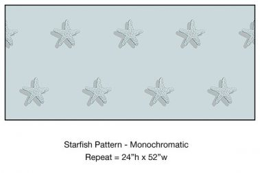 Casart_Starfish Pattern Monochromatic Blue_4x