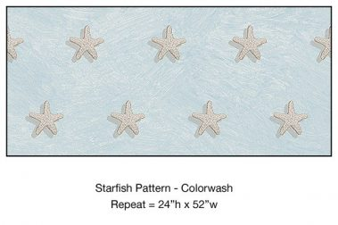 Casart_Starfish Pattern Blue Colorwash Detail_6x