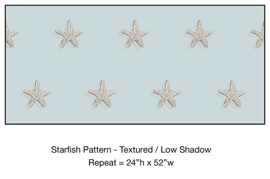 Casart_Textured Starfish Pattern Low Shadow Detail_7x