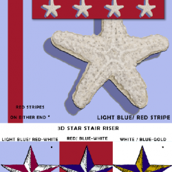 Casart_Starfish_Star_Stair-Riser_Sample