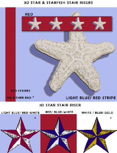 Casart Coverings Starfish and 3D Star removable wallpaper Sample
