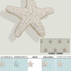 Starfish Pattern removable wallpaper Casart Sample - Designs & Murals