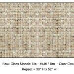 Casart_Tan Faux Glass Clear Grout Tile_1-bx_Architectural