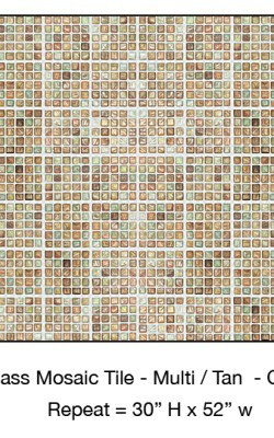 Casart_Tan Faux Glass Clear Grout Tile_1-bx_Architectural