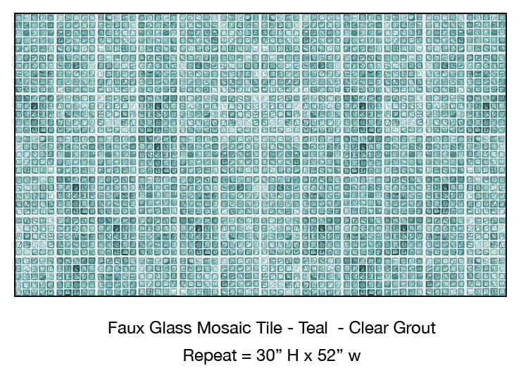 Casart_Teal Faux Glass Clear Grout Tile_4-bx_Architectural