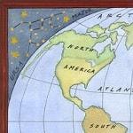 Casart coverings_self-adhesive World-Map_Ceiling Mural