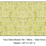 Casart_Yellow Faux Glass Clear Grout Tile_2-bx_Architectural