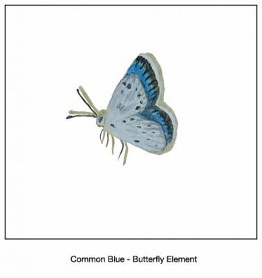 Casart_Common Blue Butterfly Detail_18x
