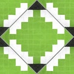 Casart coverings Lime & White Diamonds-in-the-ruff-wallcovering_MoRockAnSoulCollection_1