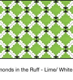 Casart coverings Lime & White Diamonds-in-the-ruff-wallcovering_MoRockAnSoulCollection_1x